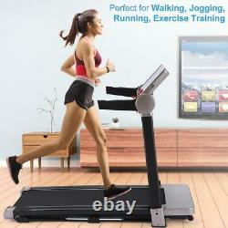 Electric Folding Treadmill Multi-functional LCD Display 12Preset Training Modes