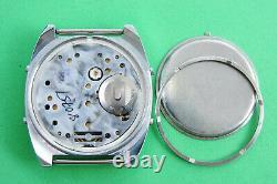 Elektronika 5-207 30354 Soviet Digital LCD Wrist Watch Chronograph Hispanic ver