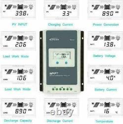 Epever MPPT Solar Charge Controller Tracer Power Regulator 10/20/30/40A PV100V