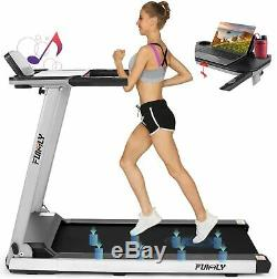 FUNMILY Treadmill 2.25HP Folding Treadmills for Home with Bluetooth Speaker Desk