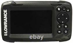 Fish Finder Gps Combo Depth Finder Transducer with Solar MAX 4 inch Display Gray