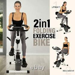 Folding Exercise Bike with 10-Level Adjustable Magnetic Resistance For Home USA