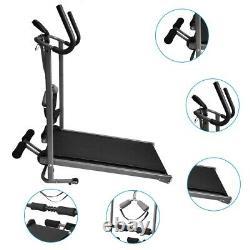Folding Manual Treadmill Portable Running Home Fitness Walking Machine Sport