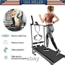 Folding Manual Treadmill Portable Running Home Fitness Walking Machine Sport US