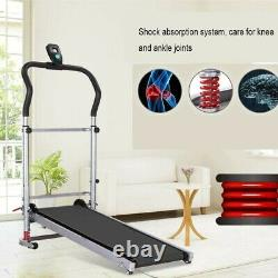 Folding Manual Treadmill Running Machine Cardio Fitness Exercise Home Workout