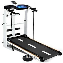 Folding Manual Treadmill Working Machine Cardio Fitness Exercise Incline US