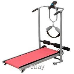 Folding Mechanical Treadmill Walking Running Jogging Fitness Machine Home Gym US