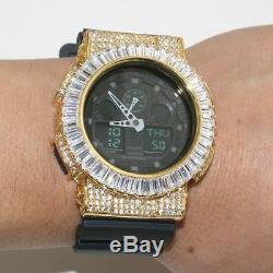 Gold Baguette Custom Iced Out Jumbo GA-100 G Shock Watch