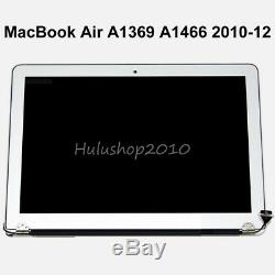 Gray 13.3 LCD Display Screen Assembly MacBook Air A1369 A1466 2010 2011 2012