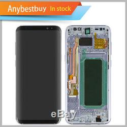 Gray LCD Display Touch Digitizer Frame Replacement For Samsung Galaxy S8 Plus