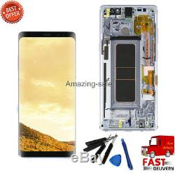 Grey LCD Display Touch Screen Digitizer +Frame Replace For Samsung Galaxy Note 8