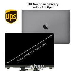 Grey Replacement Macbook Pro A1706 A1708 13'' 2016 2017 LCD Screen Display