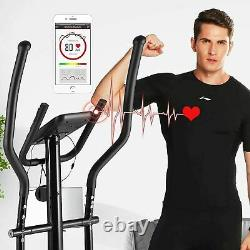 Heavy Duty Exercise Bike Eliptical Exercise Machine Smooth Quiet for Home Gym