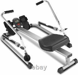 Hydraulic Rowing Machine Row Training Equipment 12 resistance levels Rower LCD