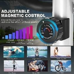 Magnetic Elliptical Machine Exercise Training Home-Gym Fitness Smooth Quiet Gray