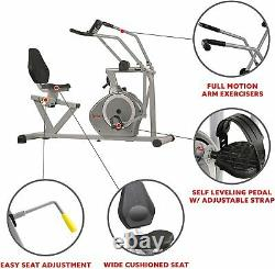 Magnetic Recumbent Exercise Bike 350lb Weight Capacity Home Gym Cardio Machine