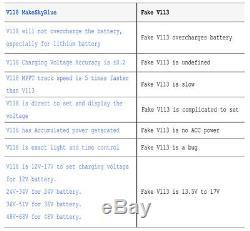 MakeSkyBlue 60A MPPT Solar Charge Regulator for 12 24 36 48 Volt Acid Battery