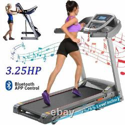 Max 3.25HP Electric Treadmill 2-IN-1 Folding Incline Running Machine +APP HOT