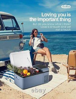 Mini Fridge Freezer Portable Refrigerator 0.64 Cu Ft Car Fridge LCD Display