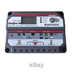 Morningstar Prostar PS-30M, Solar Battery Charge Controller, PWM 30 AMP 12/24 V