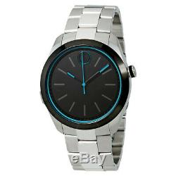 Movado Motion 3660003 Silver Stainless Steel Black Men's Smartwatch
