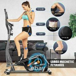 NEW Eliptical Exercise Machine Heavy Duty Gym Equipment with 10-Level Resistance