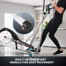 New Elliptical Machine, 8-Level Resistance Elliptical Exerciser Cardio Workout