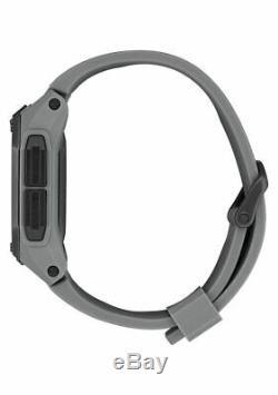 Nixon Regulus Men's Gunmetal Gray Military Digital 46mm Watch A1180 632 NEW