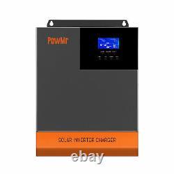PowMr 3000W Solar Inverter In 60A MPPT Charge Controller DC24V AC120V Max PV100V