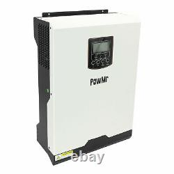 Powmr 5KW Solar Inverter Off-Grid Tie 50A PWM Solar Charge Controller DC48V 220V