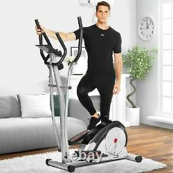 Pro Magnetic Elliptical Machine Exercise Training Home-Gym Fitness Smooth Quiet