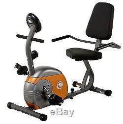 Recumbent Bike Marcy ME-709 Gray Black Orange Cardio Exercise Cycling Cycle