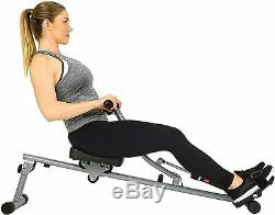 Rowing Machine 12 Level Adjustable Resistance LCD Monitor Rower Compact Design