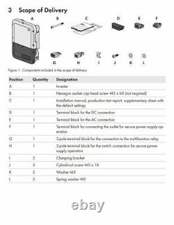 SMA SB7.0-1 SP-US-41 Sunny Boy 7.0-US, 3-MPPT, AFCI 208/240VAC with SPS Function