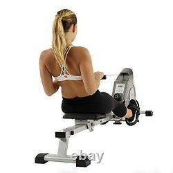 SUNNY HEALTH & FITNESS SF-RW5515 MAGNETIC ROWING MACHINE ROWER withLCD MONITOR