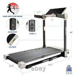 Secondhand ZELUS Folding Treadmill for HomeorOffice Workout w Bluetooth Speaker