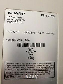 Sharp PN-L702B 70 HD Interactive Whiteboard LED-LCD Display Touchscreen Monitor