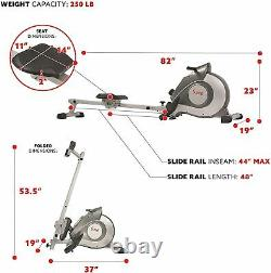 Sunny Health Fitness Magnetic Tension System Rower Rowing Machine SF-RW5515