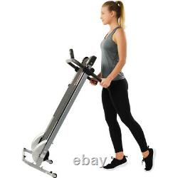 Sunny Health and Fitness SF-T1407M Manual Compact Walking Treadmill with LCD Mon