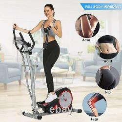 Upgraded Magnetic Elliptical Exercise Cardio Machine Trainer Fitness Training