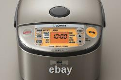 Zojirushi NP-HCC10XH Induction Heating System Rice Cooker And Warmer, 1 L, Dark